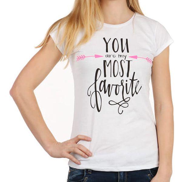 Stylové dámské tričko II.jakost bílá