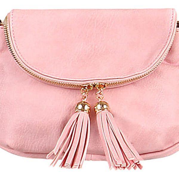 Dámská mini kabelka přes rameno růžová