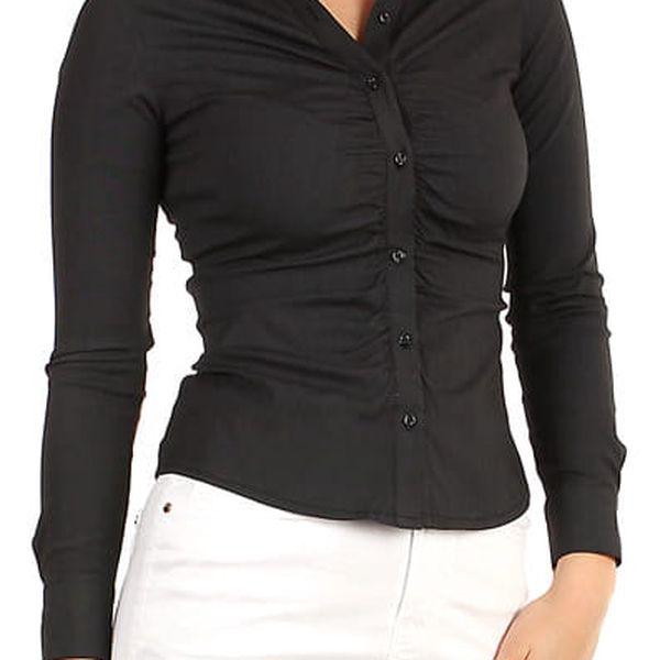 Dámská business košile - dlouhý rukáv tmavě šedá