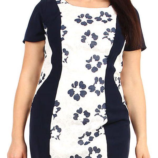 Dámské šaty se zeštíhlujícím efektem - pro plnoštíhlé bílá