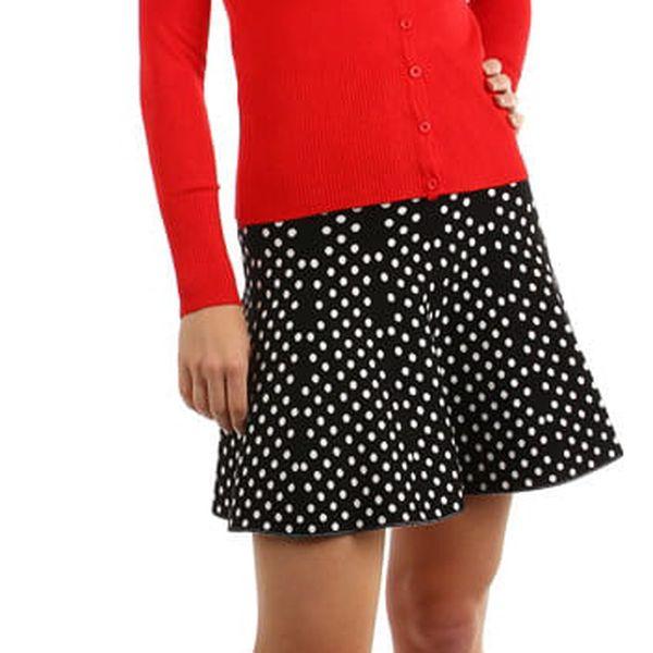 Úpletová dámská sukně áčkového střihu černá2