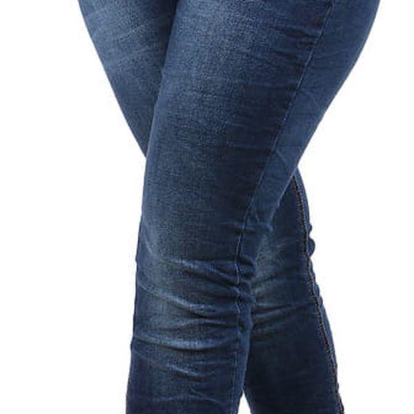 Dámské džíny v mačkaném vzhledu modrá