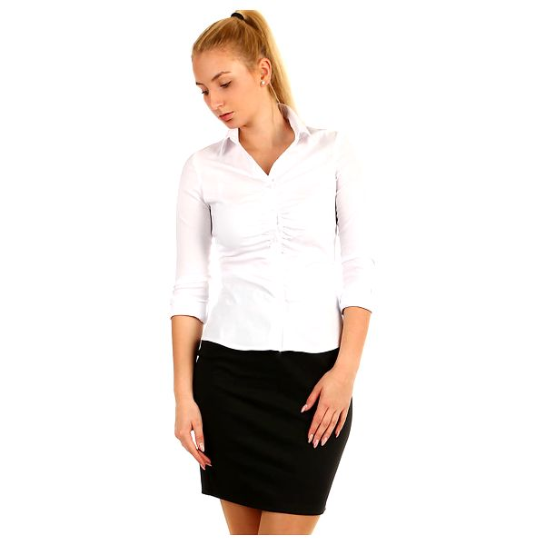 Dámská business košile - dlouhý rukáv bílá