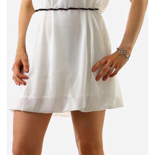 Krátké dámské volné šaty bílá