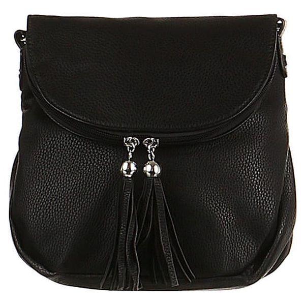 Malá crossbody kabelka se střapci černá
