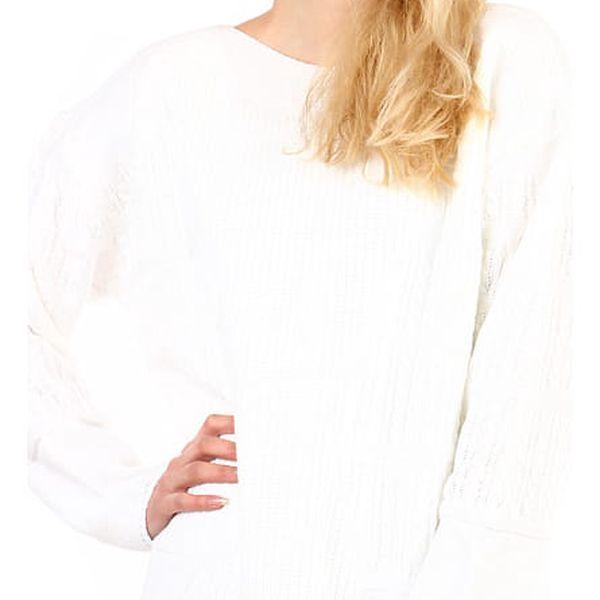 Dámský oversized svetr - i pro plnoštíhlé bílá
