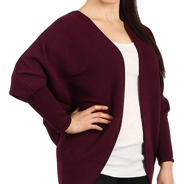 Oversized svetr bez zapínání - i pro plnoštíhlé fialová