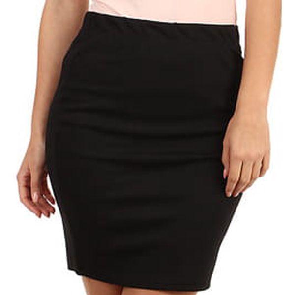 Pouzdrová dámská sukně - i pro plnoštíhlé černá