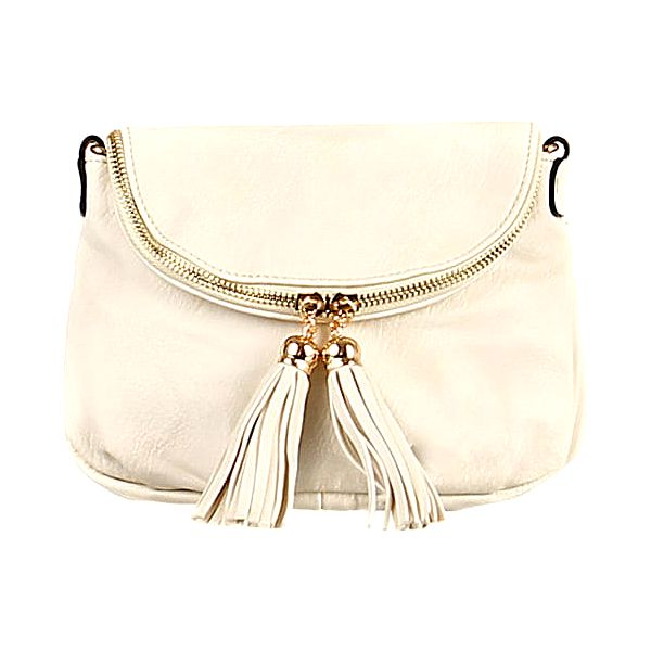 Dámská mini kabelka přes rameno béžová