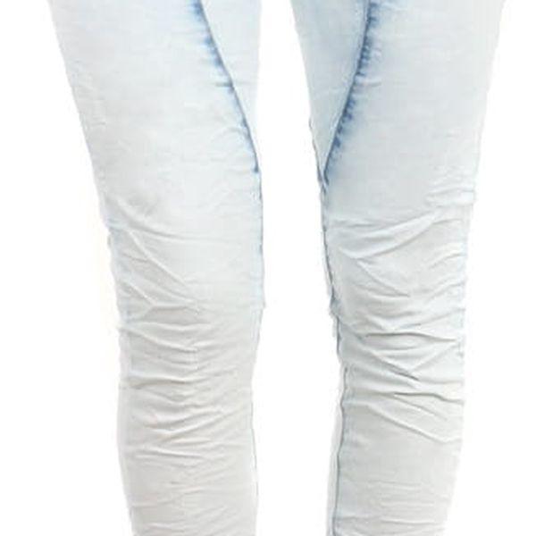 Dámské světlé džíny světle modrá