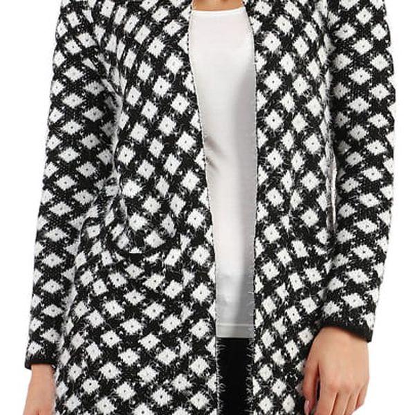 Pletený kabátek se vzorem bílá
