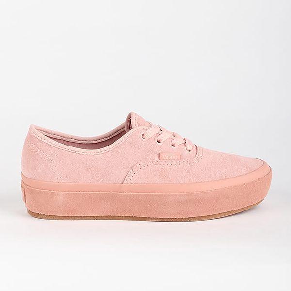 Boty Vans Ua Authentic Platfor (Suede Outsole) Růžová