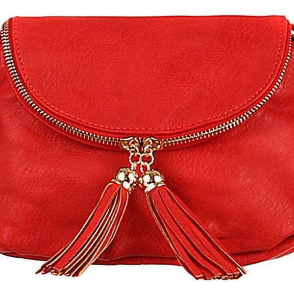 Dámská mini kabelka přes rameno červená