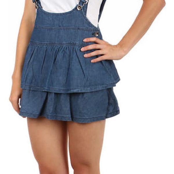 Dámská laclová sukně modrá