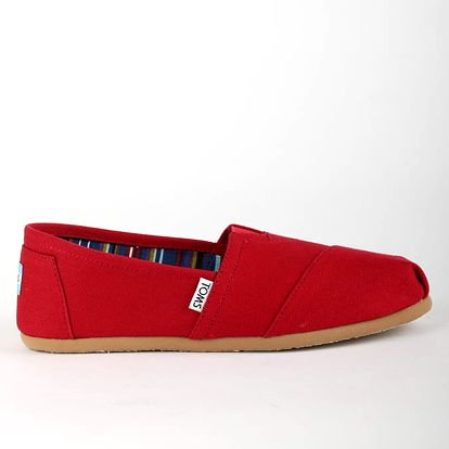 Boty Toms Red Canvas Wm Clsc Alprg Nl Červená