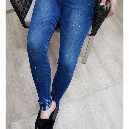 Dámské džíny s barevnými cákanci Colors
