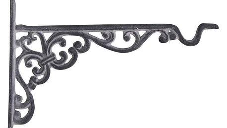 Chic Antique Kovová konzole s háčkem Antique grey, šedá barva, kov