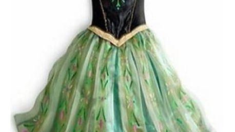 Pohádkové šaty Frozen princezny Anny z Ledového království.