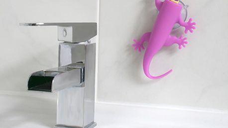 Růžový držák na zubní kartáčky J-Me Larry