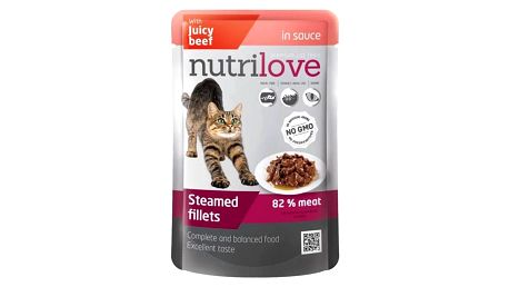 Nutrilove Cat pouch Beef gravy 28 x 85g