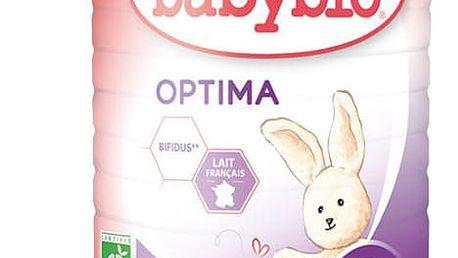 3x BABYBIO Optima 2 pokračovací mléčná kojenecká výživa v prášku 900 g
