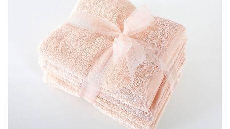 Set 2 růčníků a 2 osušek z prémiové bavlny New