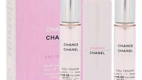 Chanel Chance Eau Tendre 3x 20 ml 20 ml toaletní voda Twist and Spray pro ženy