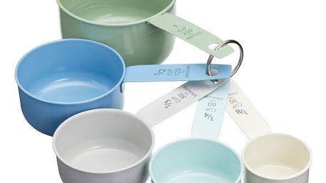 Kitchen Craft Plechové odměrky Living Nostalgia - set 5 ks, multi barva, kov