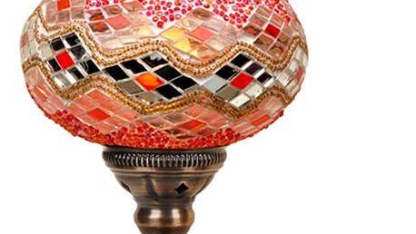 Skleněná ručně vyrobená lampa Zeus, ⌀17cm
