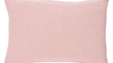 IB LAURSEN Lněný povlak na polštář Light Pink 60x40, růžová barva, textil