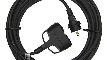 Kabel prodlužovací EMOS 2x zásuvka, 50m černý (1914032500)