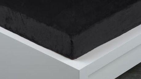 XPOSE ® Prostěradlo mikroflanel Exclusive jednolůžko - černá 90x200 cm