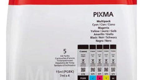 Inkoustová náplň Canon PGI-570/CLI-571 PGBK/C/M/Y/BK MULTI BL w/o SEC černá/červená/modrá/žlutá (0372C004)