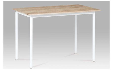 Jídelní stůl 110x70 cm, dub san remo / bílý lak GDT-222 SRE Autronic