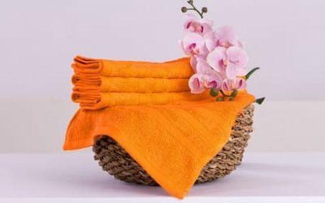 XPOSE ® Bambusový ručník SÁRA - oranžová 30x50 cm 6ks