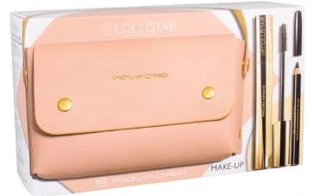 Collistar Infinito dárková kazeta pro ženy řasenka 11 ml + tužka na oči 2 g Black + kabelka