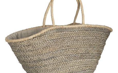 IB LAURSEN Slaměná taška Grey, šedá barva, proutí