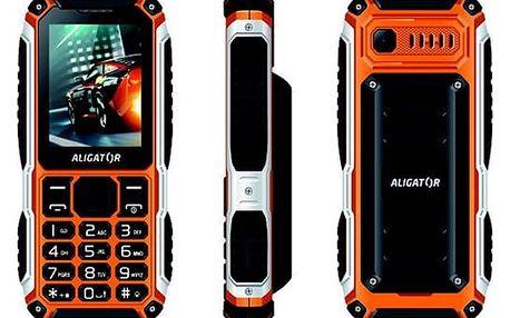 Mobilní telefon Aligator R30 eXtremo černý/oranžový (AR30BO)