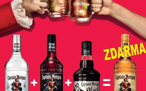 Capt.Morgan1l White Rum +Black Spiced+Jamaica Rum+BONUS Spiced gold