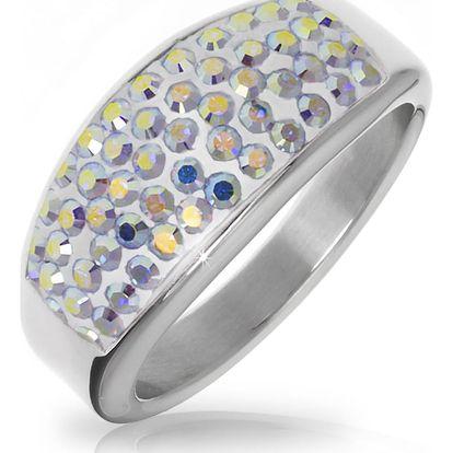 Fashion Icon Prsten chirurgická ocel s krystaly Swarovski elements - barevný