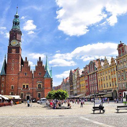 Královská Wroclaw v orientálním hotelu s neomezenou relaxací ve wellness a s polopenzí