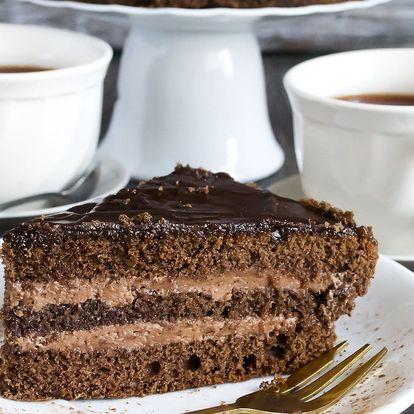 2× dort s kávou či čajem výběrem z nabídky