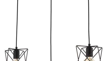 Černé stropní svítidlo Avoni Lighting Lignes Trois