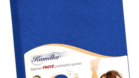 Bellatex Froté prostěradlo Kamilka tmavě modrá, 200 x 220 cm
