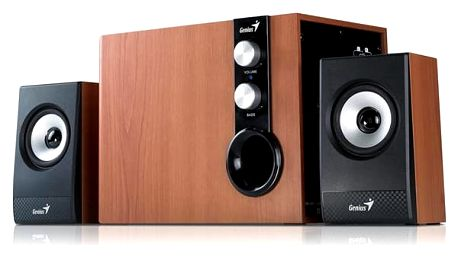 Reproduktory Genius SW-HF 1205 2.1 černá/imitace dřeva (31730972100)