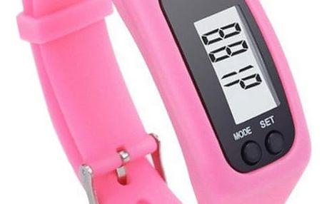 LCD hodinky s krokoměrem - 3 barvy