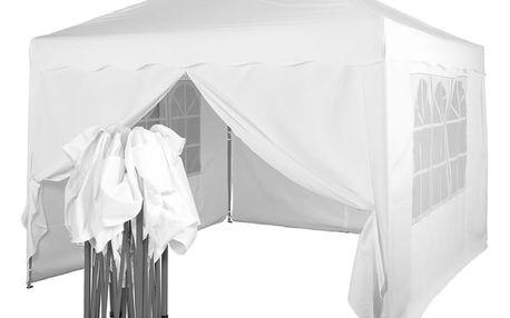Tuin 36866 Zahradní párty stan nůžkový 3x3 m + 4 boční stěny - bílá