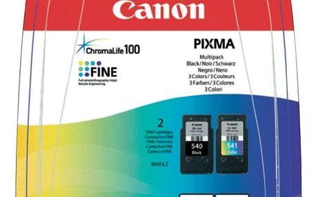 Inkoustová náplň Canon PG-540 / CL-541 - originální černá/červená/modrá/žlutá (5225B006)