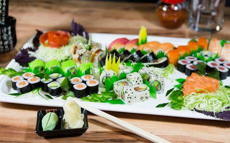 Sushi menu dle výběru: 16, 18, 20, 25 i 60 ks