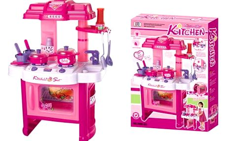 G21 24458 Dětská kuchyňka s příslušenstvím růžová